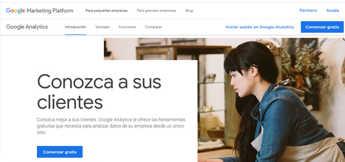 Google Analytics - Herramientas SEO de analítica