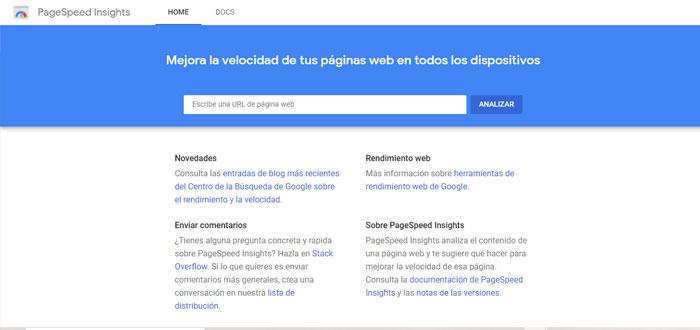 Pagespeed Insights - Screenshot