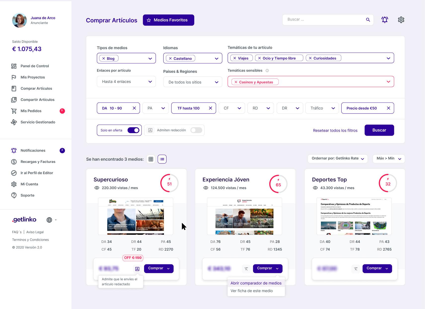 Getlinko, mejora la visibilidad online de tu marca